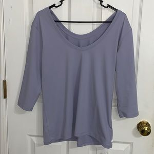 NWT Lavender Fabletics Samantha S/S Top II